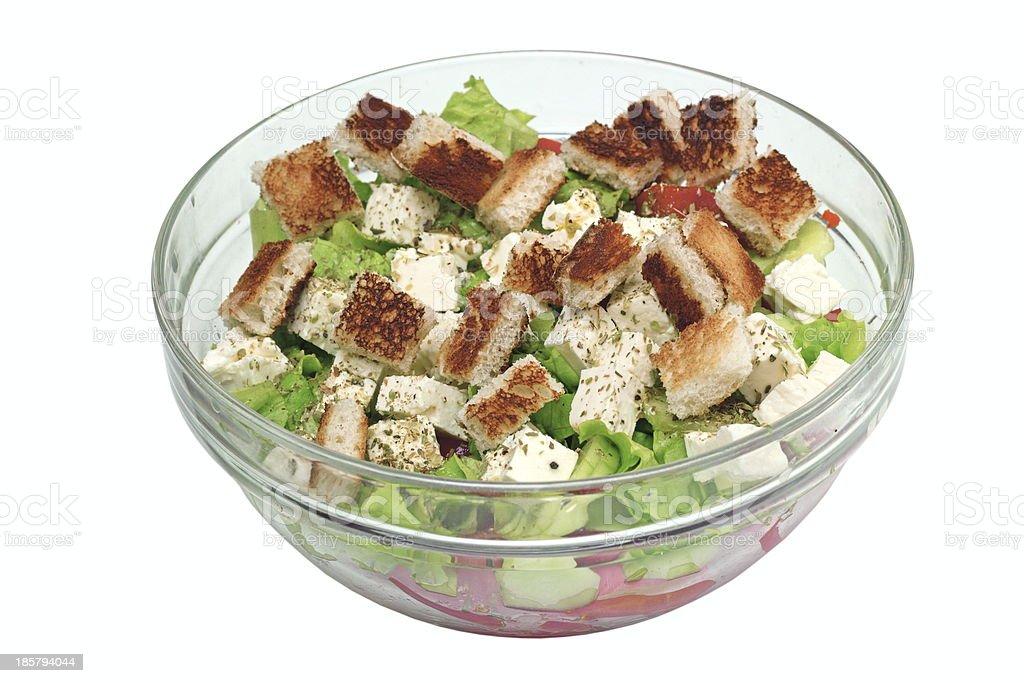 fresh salad on bowl royalty-free stock photo