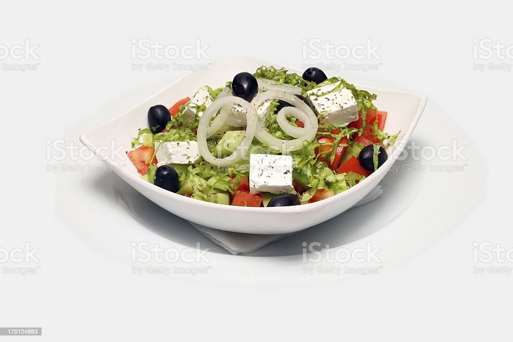 Fresh salad on plate royalty-free stock photo