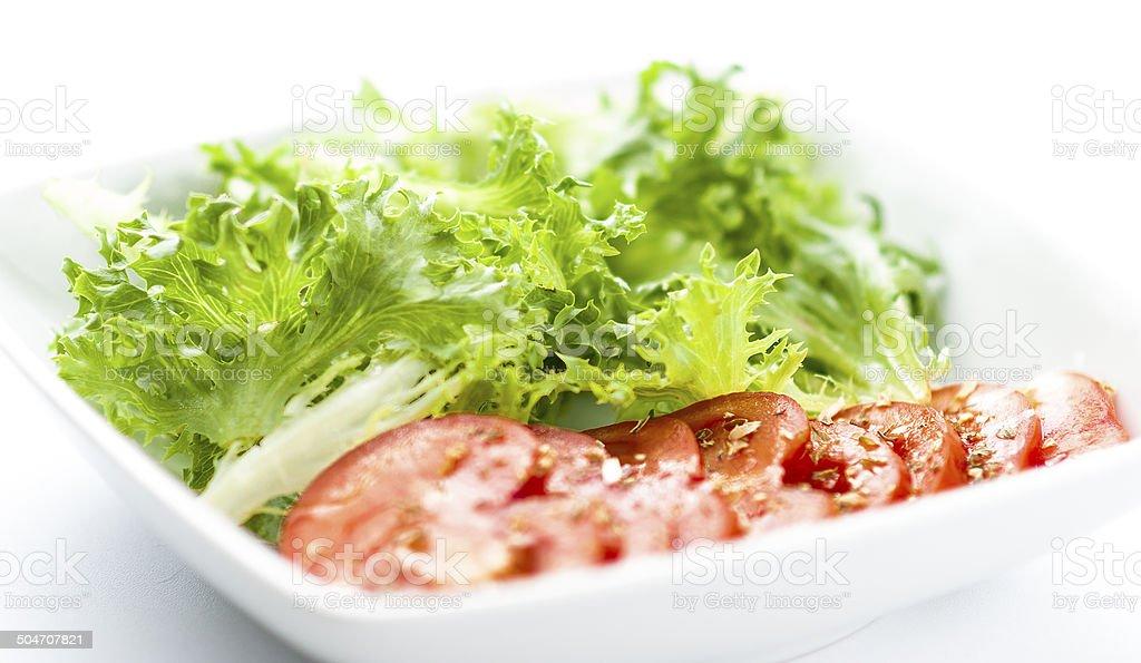 fresh salad plate royalty-free stock photo