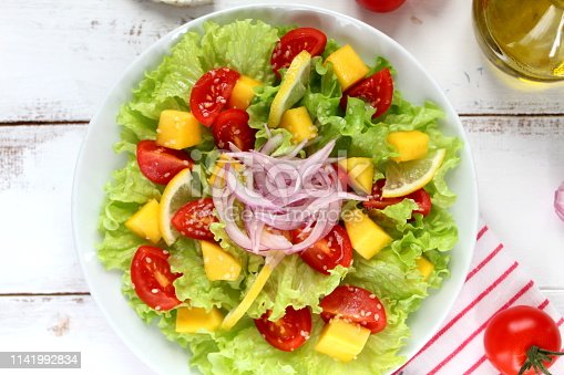 Diet food. Top view with copy space. Vegetarian and vegan food.