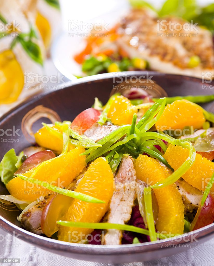 fresh salad with orange royalty-free stock photo