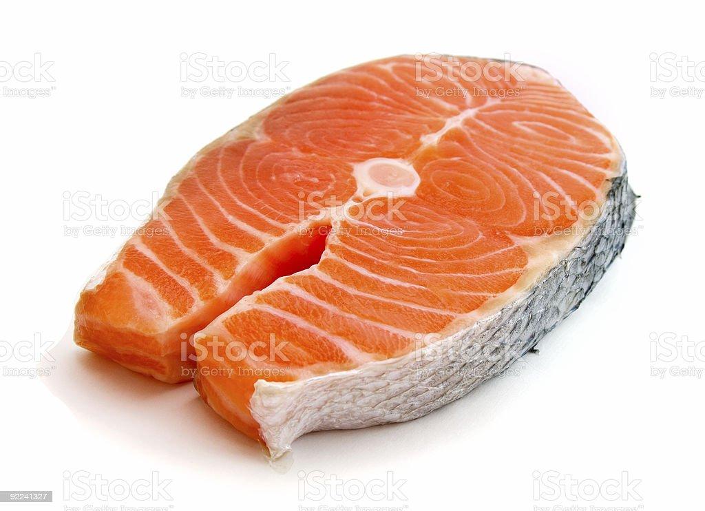 fresh salmon royalty-free stock photo