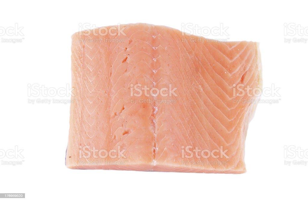 Fresh Salmon Steak royalty-free stock photo