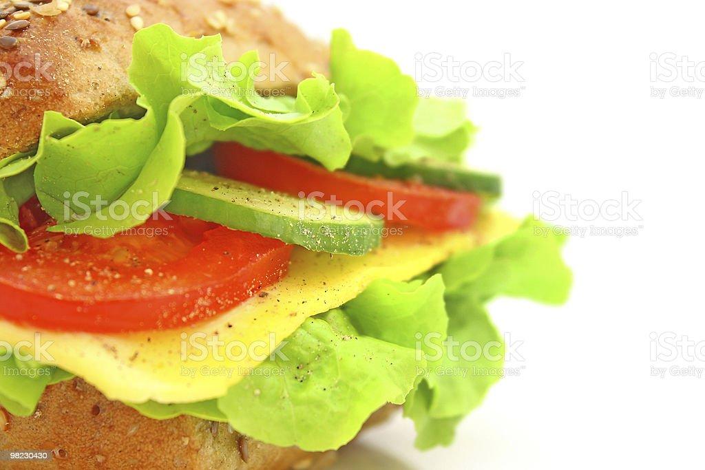 Freschi sandwich con formaggio e verdure foto stock royalty-free