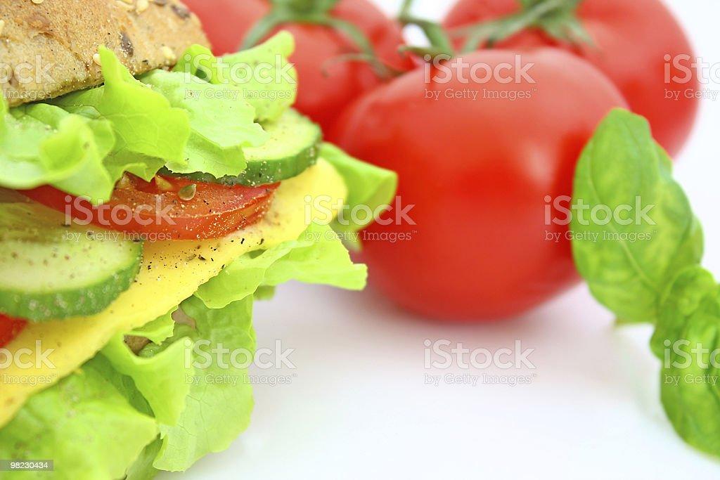 신선한 샌드위치, 치즈, 야채 royalty-free 스톡 사진