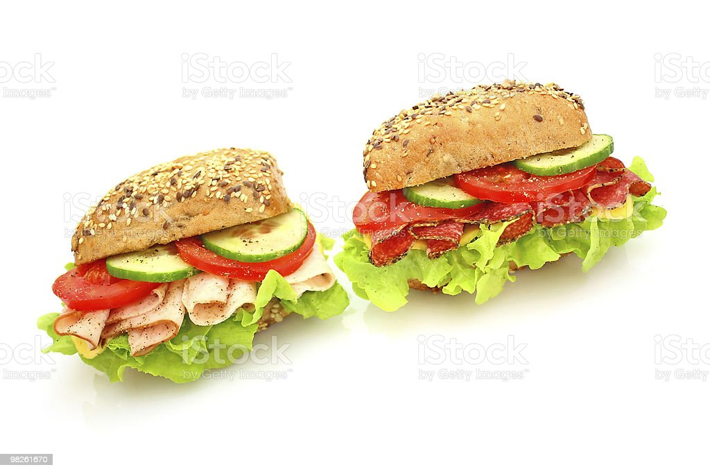 Fresh sandwich with vegetables royalty-free stock photo