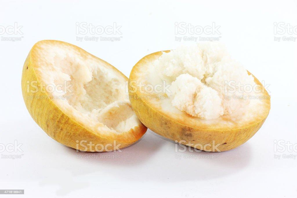 Fresh santol fruit isolated on white background stock photo