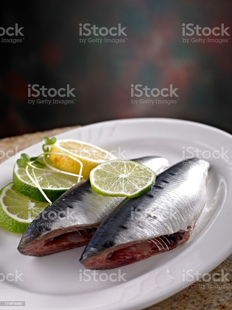 Fresh Sardines royalty-free stock photo