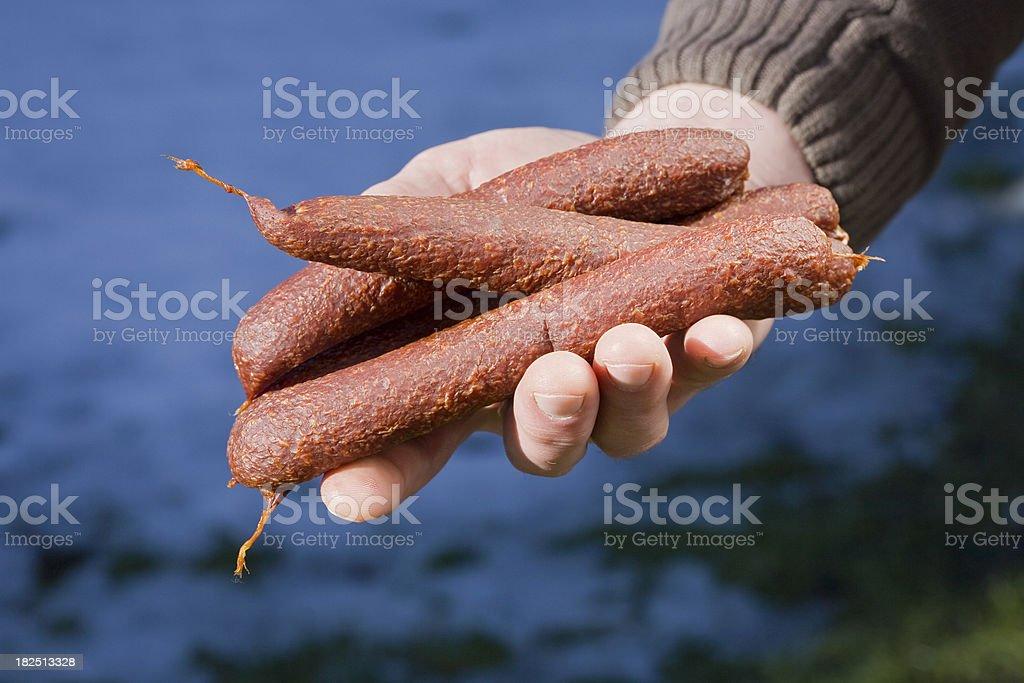 fresh sausage royalty-free stock photo