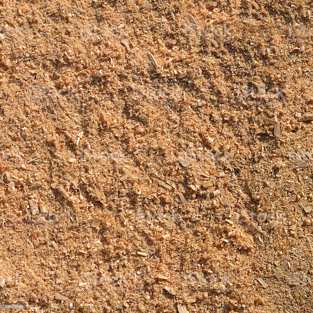Fresh sawdust as background stock photo