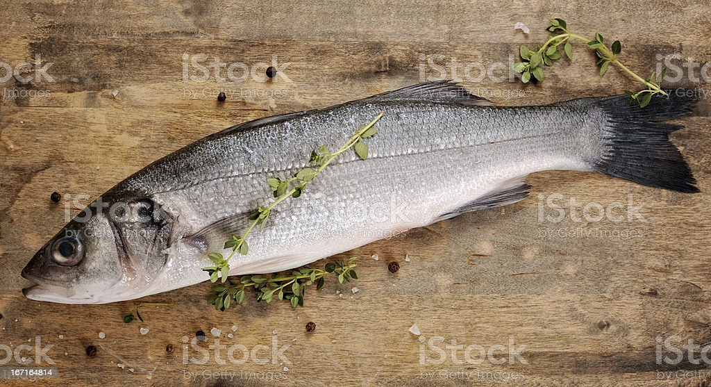fresh seabss with thyme royalty-free stock photo