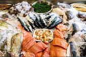 istock Fresh Seafood Displayed on Ice 610138982