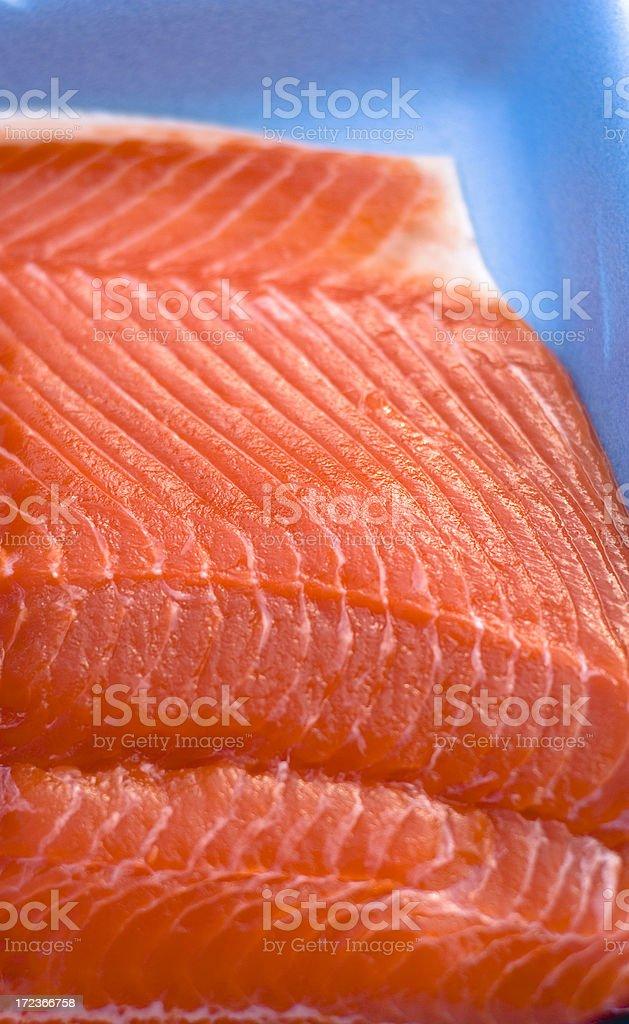 Fresh Seafood Fish in Package, Sockeye Salmon royalty-free stock photo