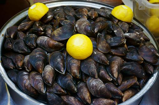 istock fresh seafood, fish on the market 970085616