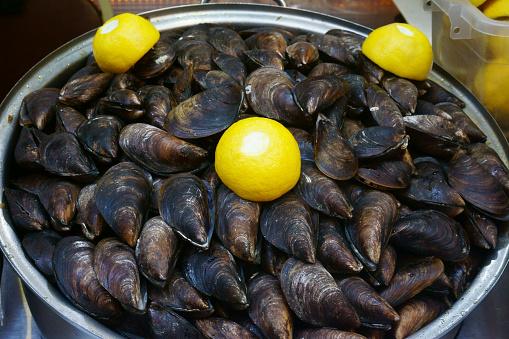 istock fresh seafood, fish on the market 970100148