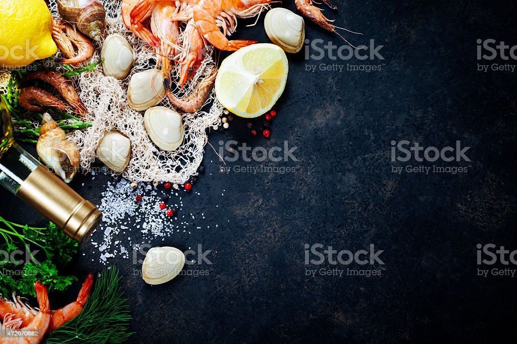 Fresh seafood stock photo