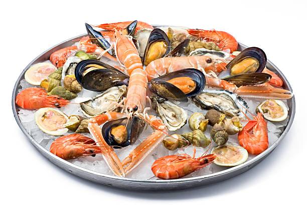 fresh seafood - fisk och skaldjur bildbanksfoton och bilder