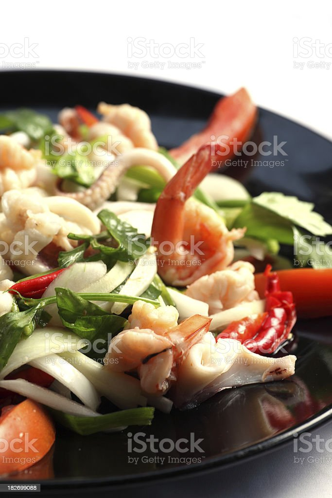 Fresh seafood salad stock photo