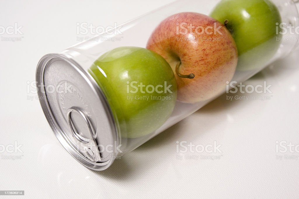 Fresh Sealed Apples royalty-free stock photo