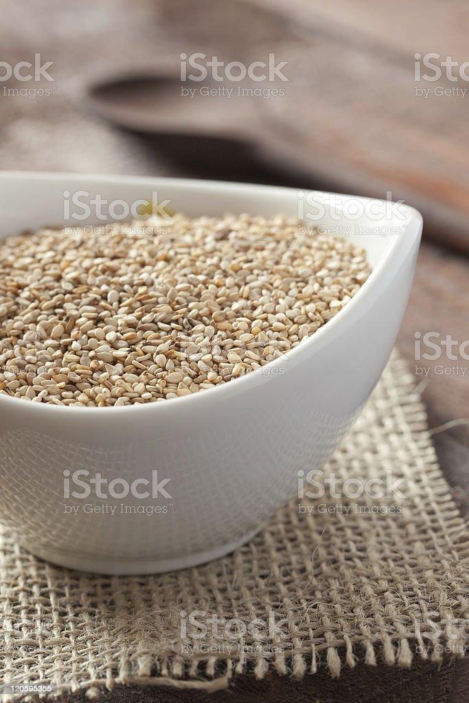 fresh sesame seeds royalty-free stock photo