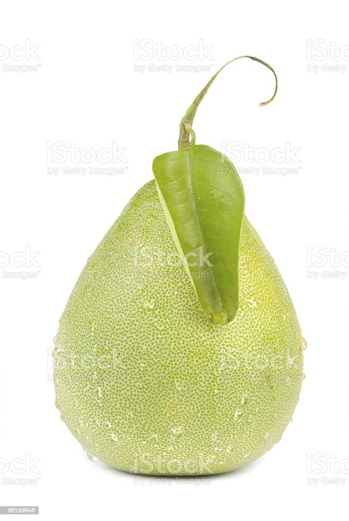 Fresh shaddock fruit with green leaf royalty-free stock photo