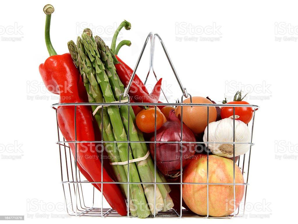 Fresh shopping basket royalty-free stock photo