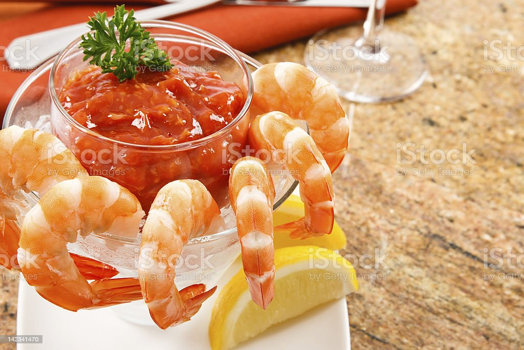 Fresh Shrimp Cocktail stock photo