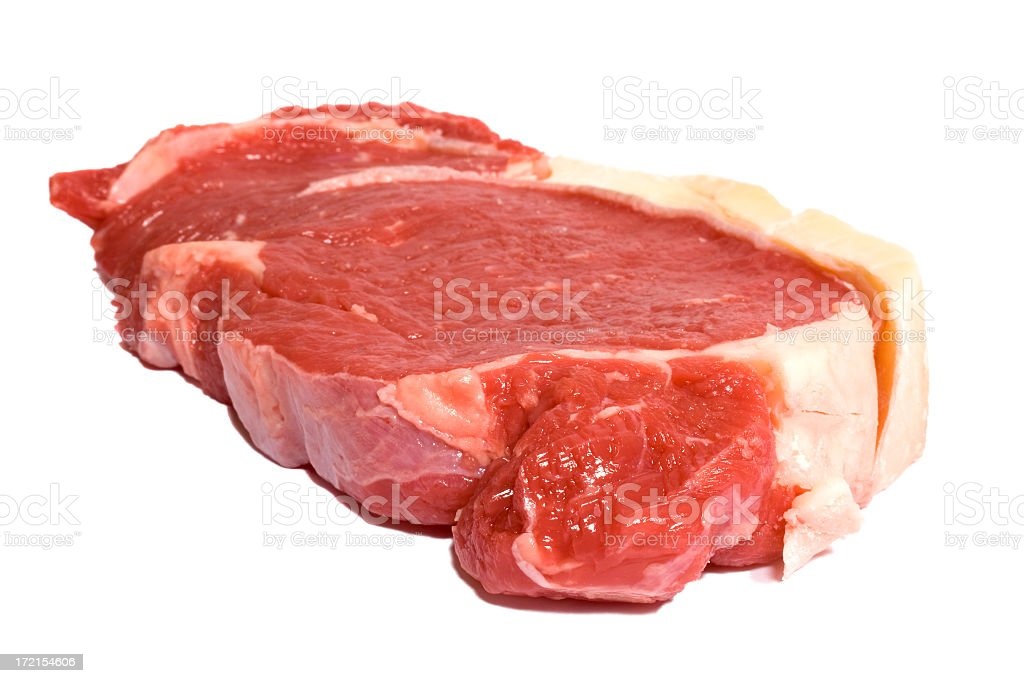 Fresh Sirloin Steak in your face royalty-free stock photo