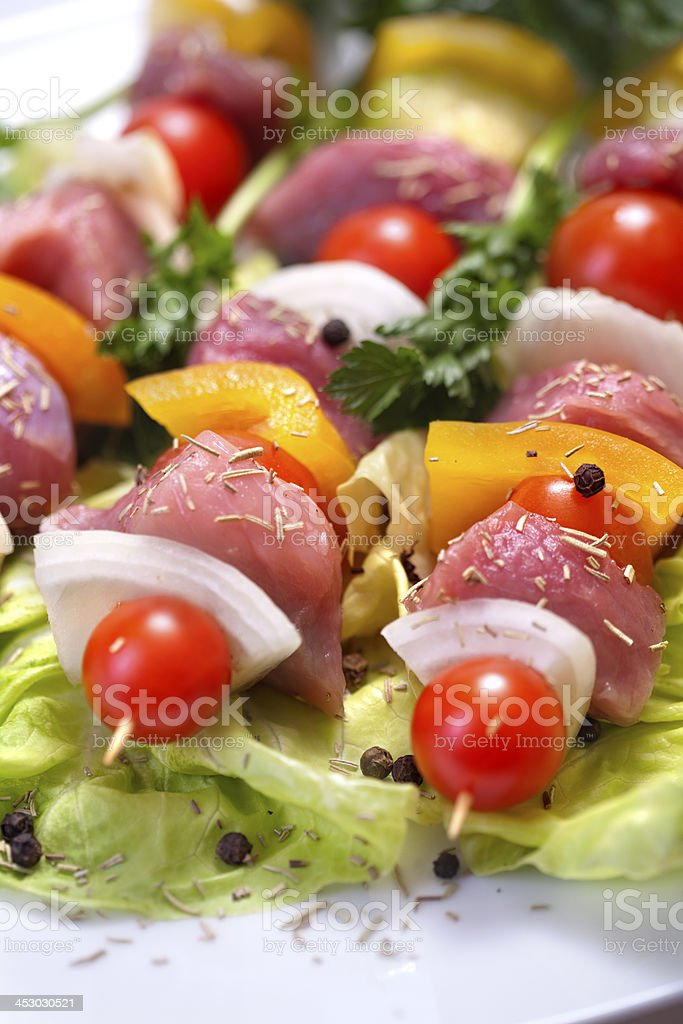 Fresh skewers royalty-free stock photo