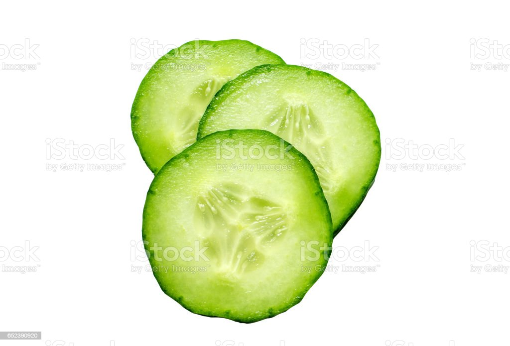 Fresh slice cucumber isolated on white background - Royalty-free Alimentação Saudável Foto de stock
