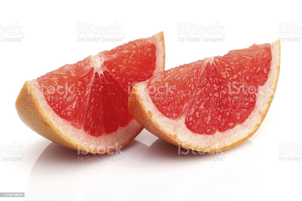 Fresh Slice grapefruit royalty-free stock photo