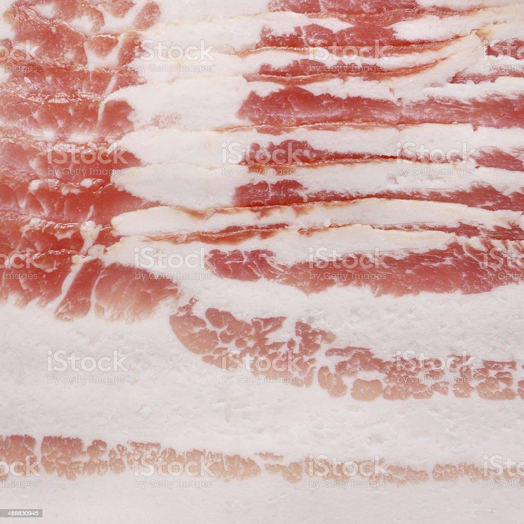 Fresh sliced bacon. stock photo