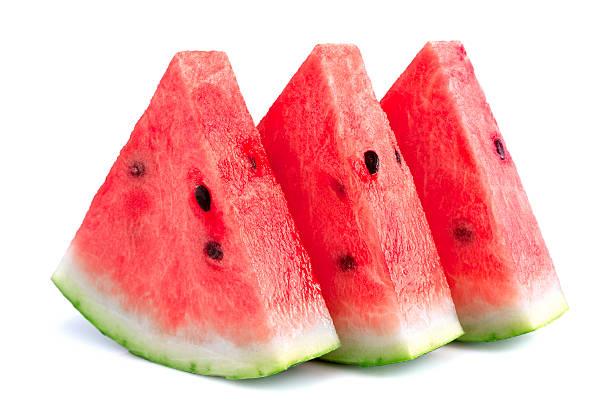 Fresh slices of watermelon stock photo