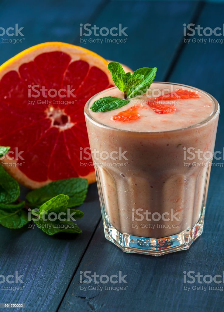 Fresh smoothie with grapefruit and mint royalty-free stock photo