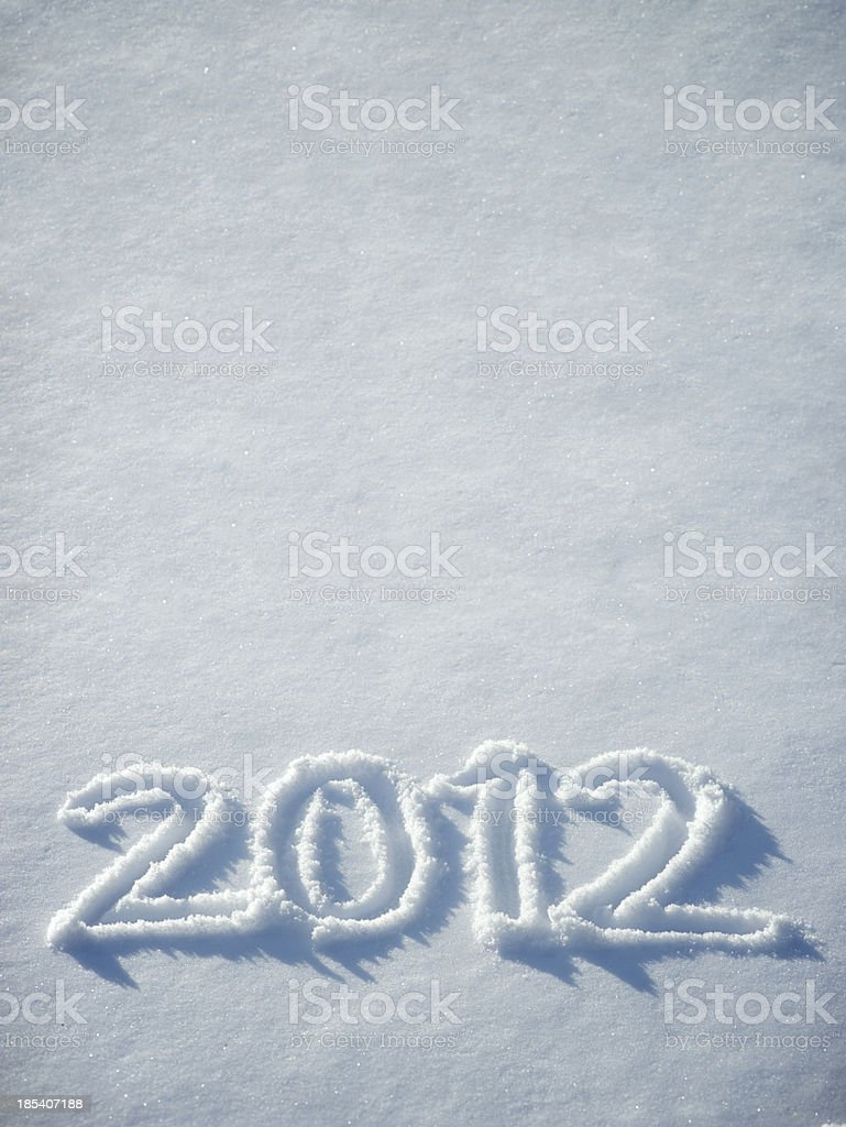 Fresh Snow 2012 Message Vertical with Copy Space royalty-free stock photo