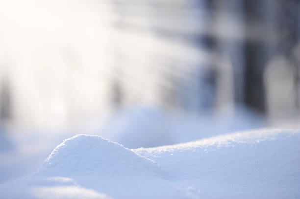 fresh snow - snow pile stock photos and pictures