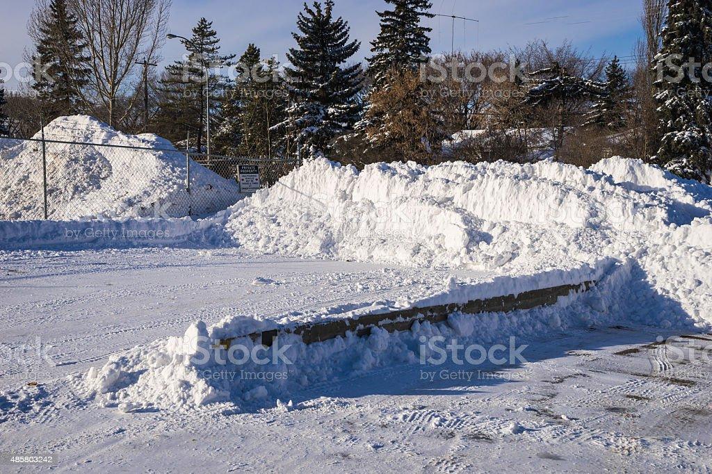 Fresh Snow Pile stock photo