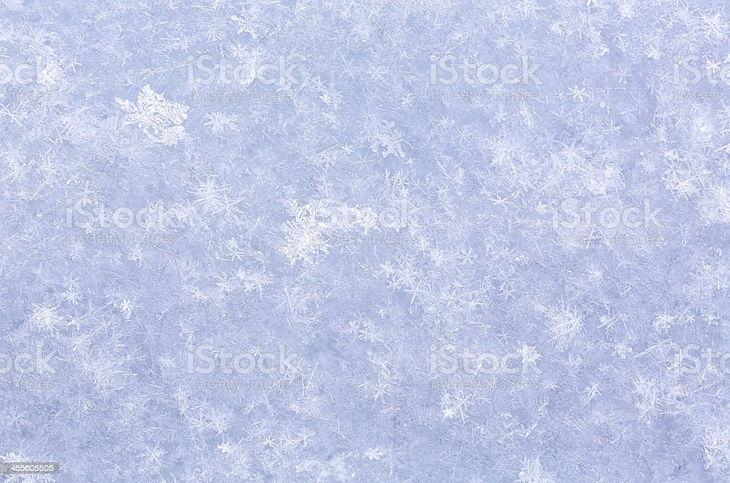 Fresh snow texture macro royalty-free stock photo