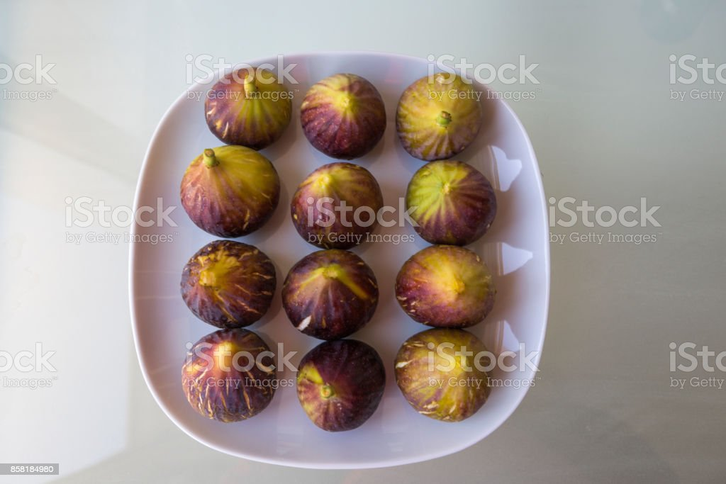Fresh soft and sweet fig fruit at serving dish in istanbul turkey stock photo