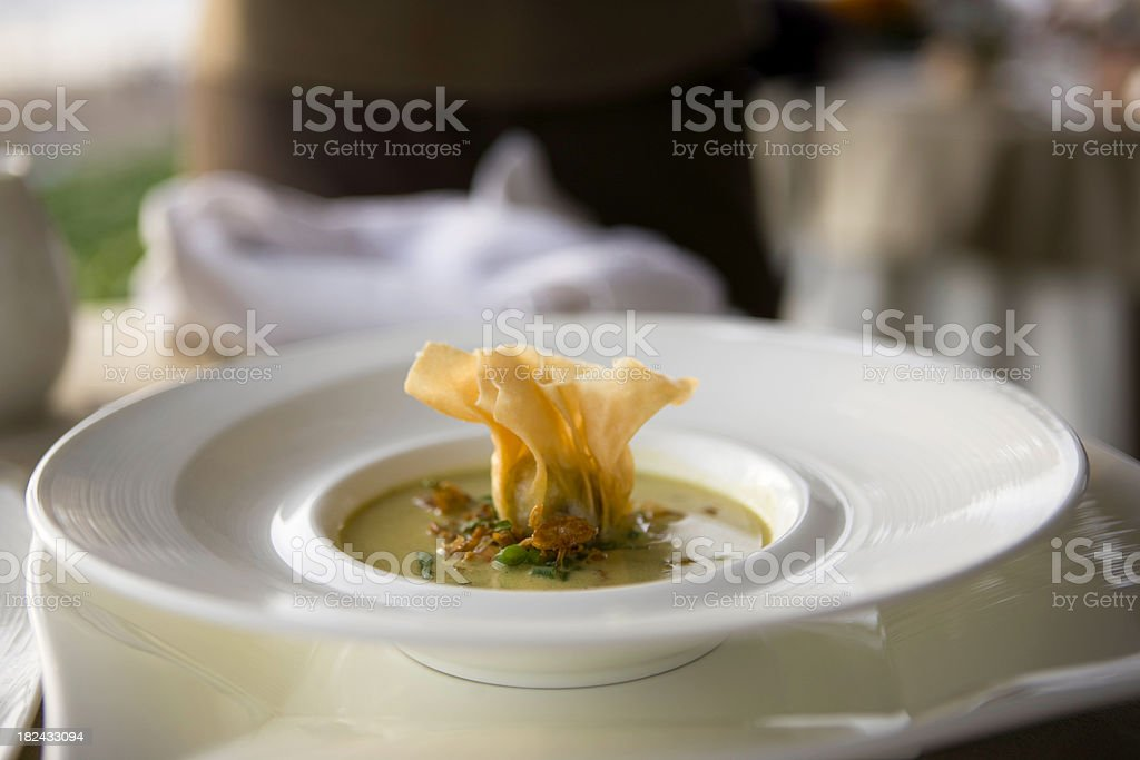 Fresh soup royalty-free stock photo