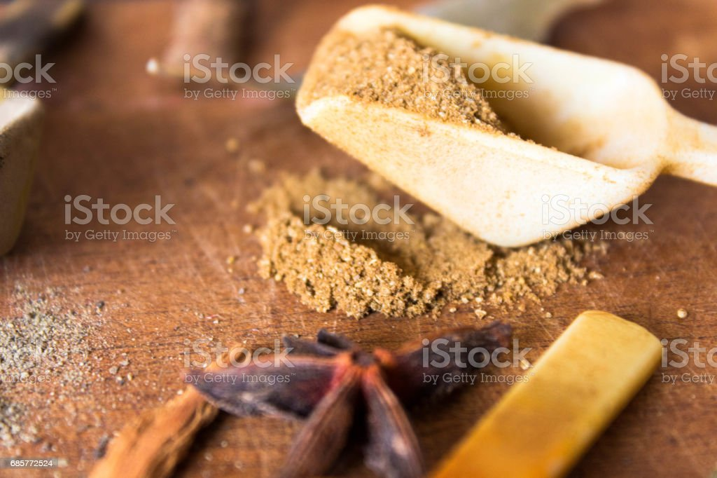 fresh spices background royalty-free stock photo