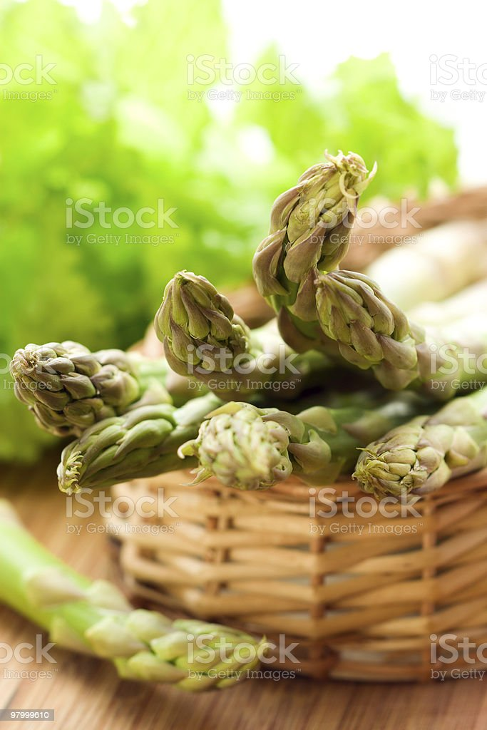 Fresh spring asparagus royalty-free stock photo