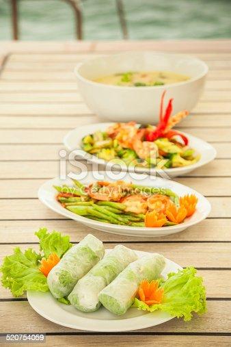 A plate of fresh spring rolls / summer rolls.