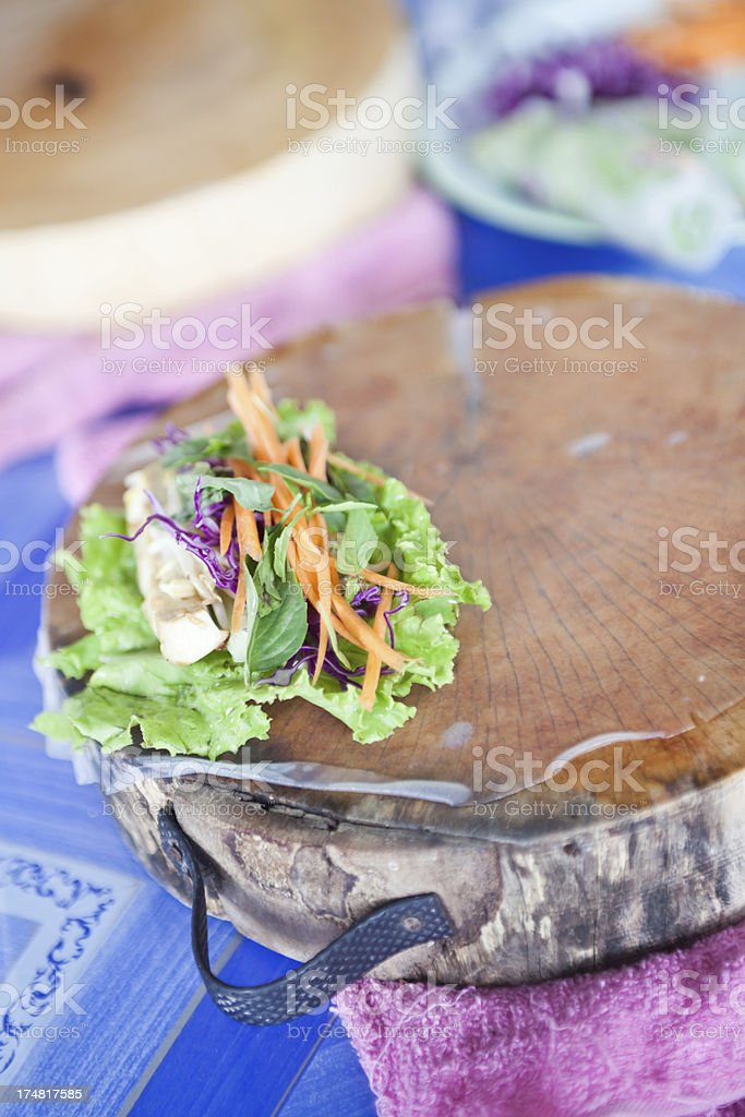 Fresh Spring Rolls royalty-free stock photo