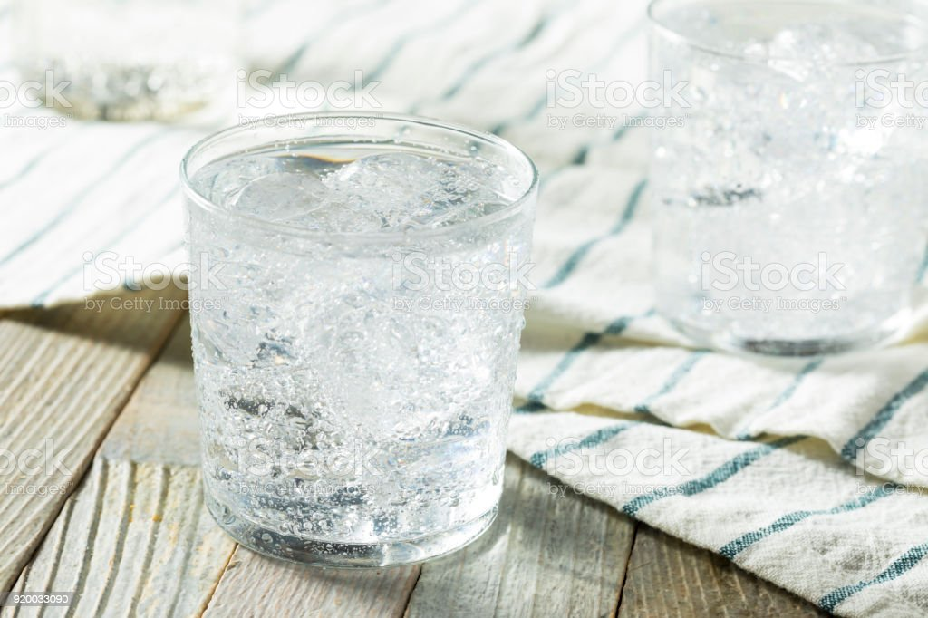 Fresh Spring Sparkling Water stock photo