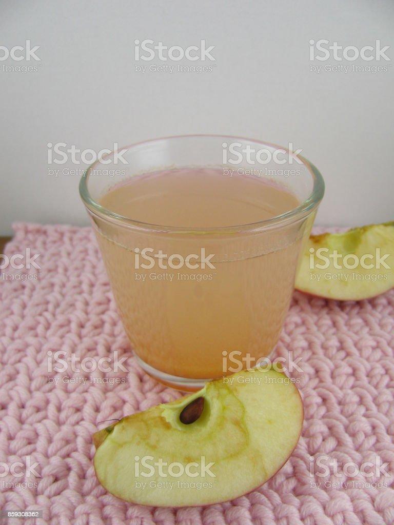 Fresh squeezed apple juice stock photo