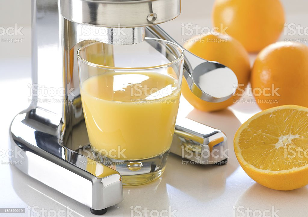 fresh squeezed orange juice royalty-free stock photo