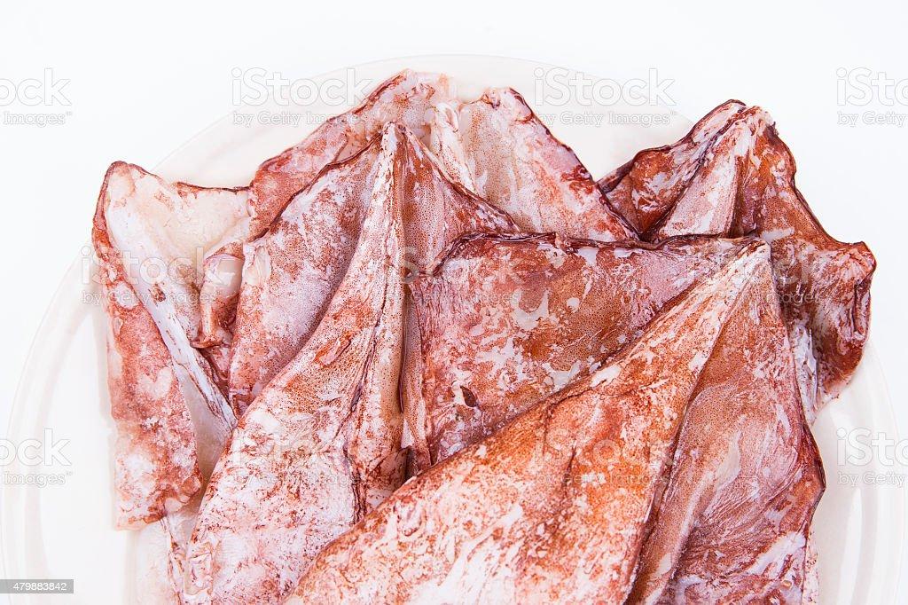 Fresh squids stock photo