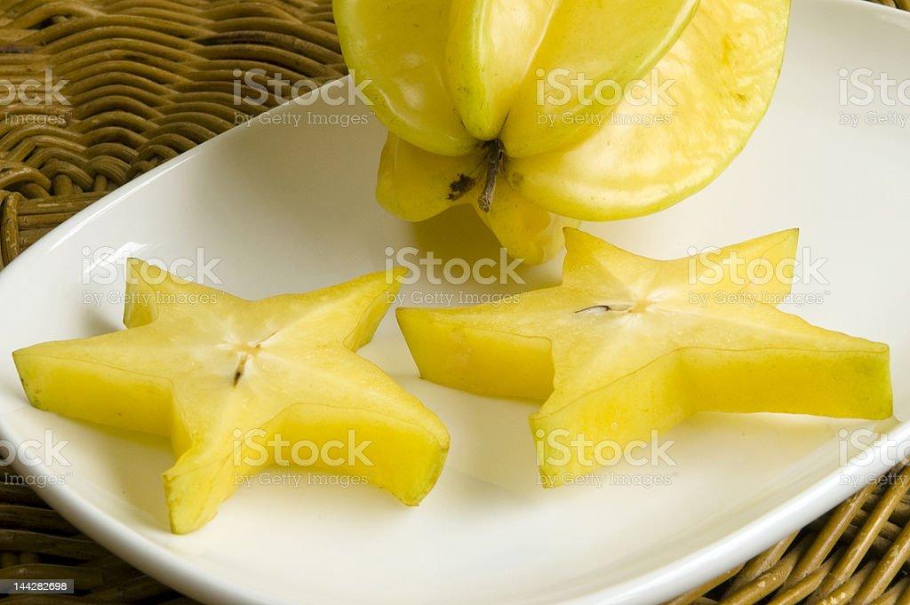 Fresh star fruits stock photo