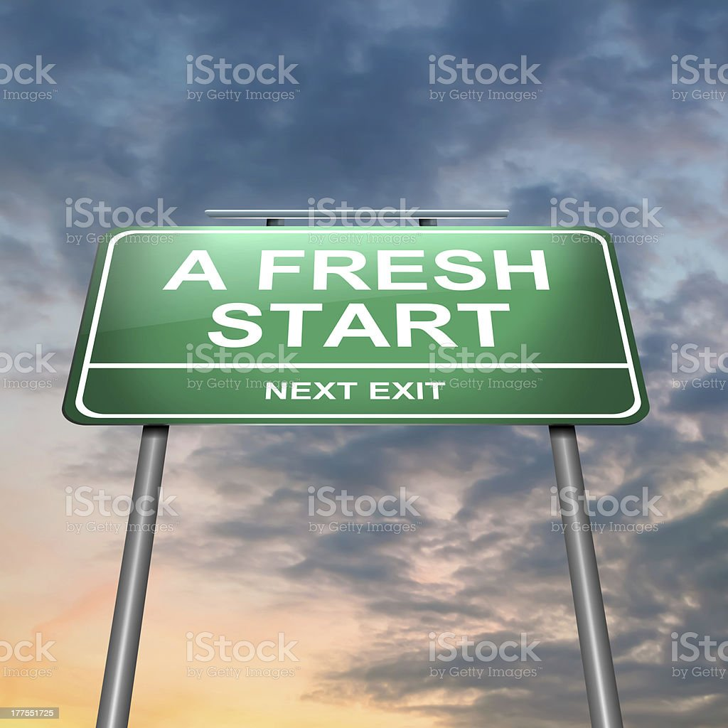 Fresh start. royalty-free stock photo
